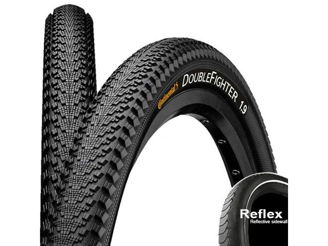 "Continental Double Fighter III Wired-on Tire 20""Reflex, black"
